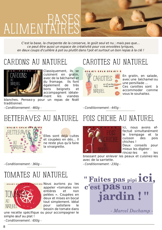 Catalogue du Bateleur - Page de présentation des produits