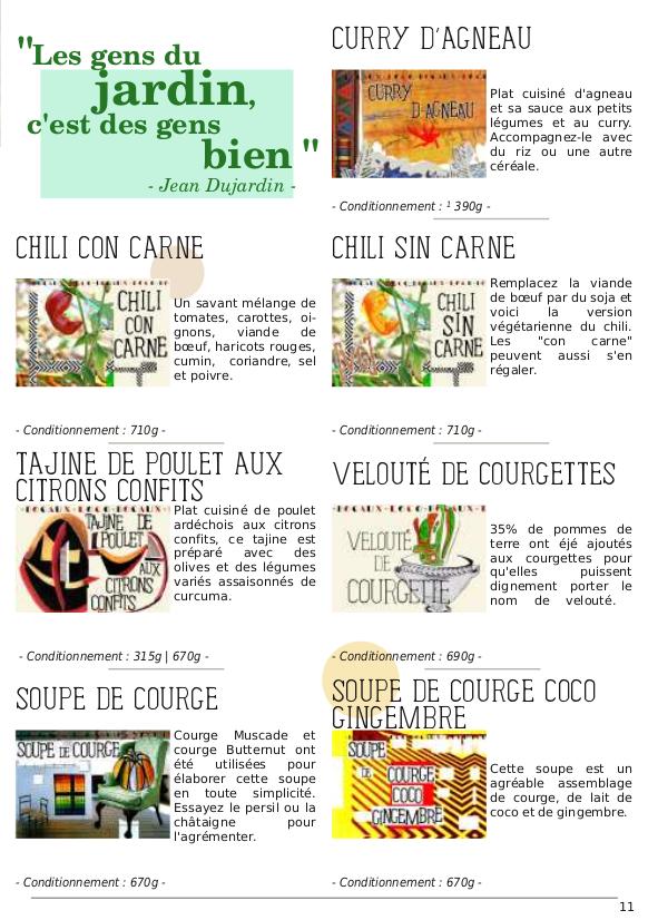 Catalogue du Bateleur - Page de présentation des produits (suite)