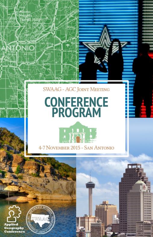 Programme de la conference SWAAG/AGC 2015 - Couverture