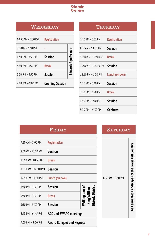 Programme de la conference SWAAG/AGC 2015 - Agenda