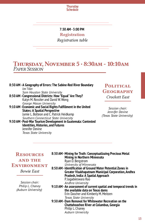 Programme de la conference SWAAG/AGC 2015 - Programme détaillé