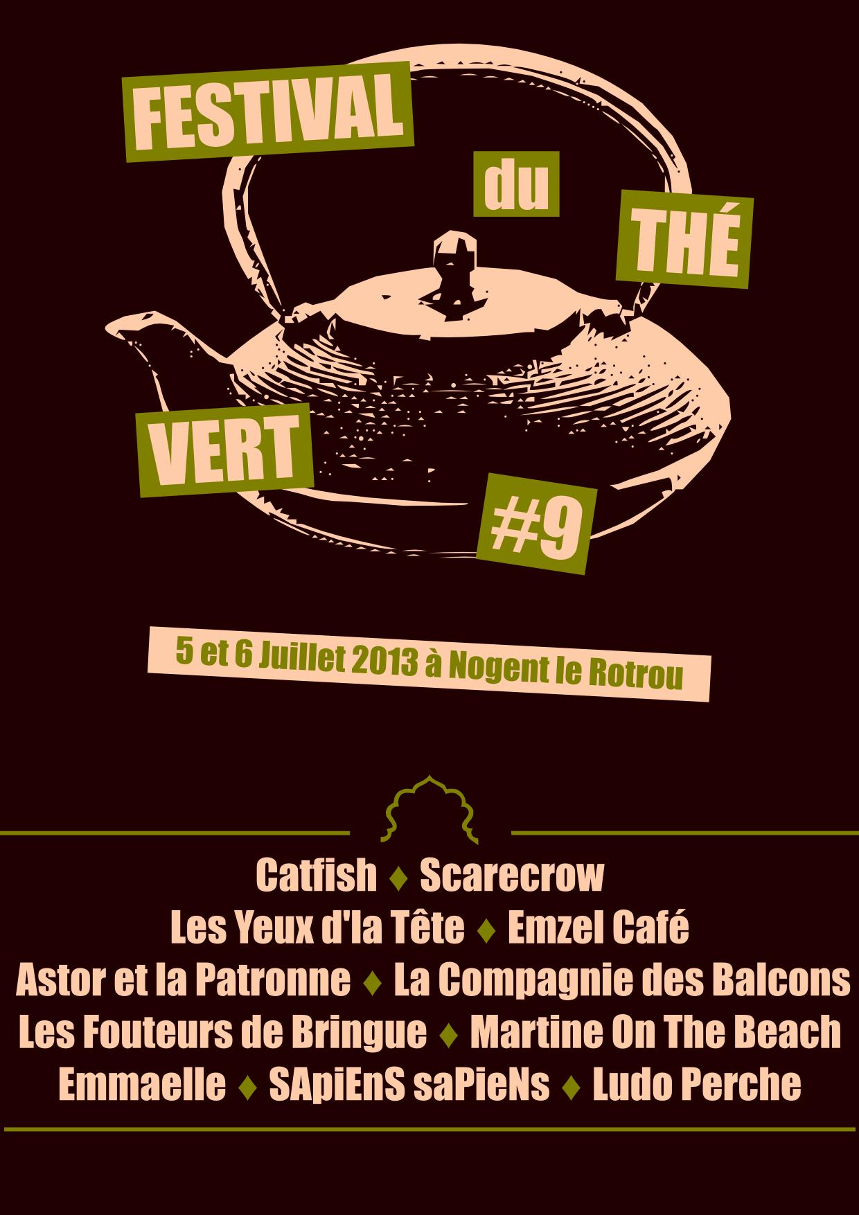 Festival du Thé Vert 2013 - T-Shirt arrière