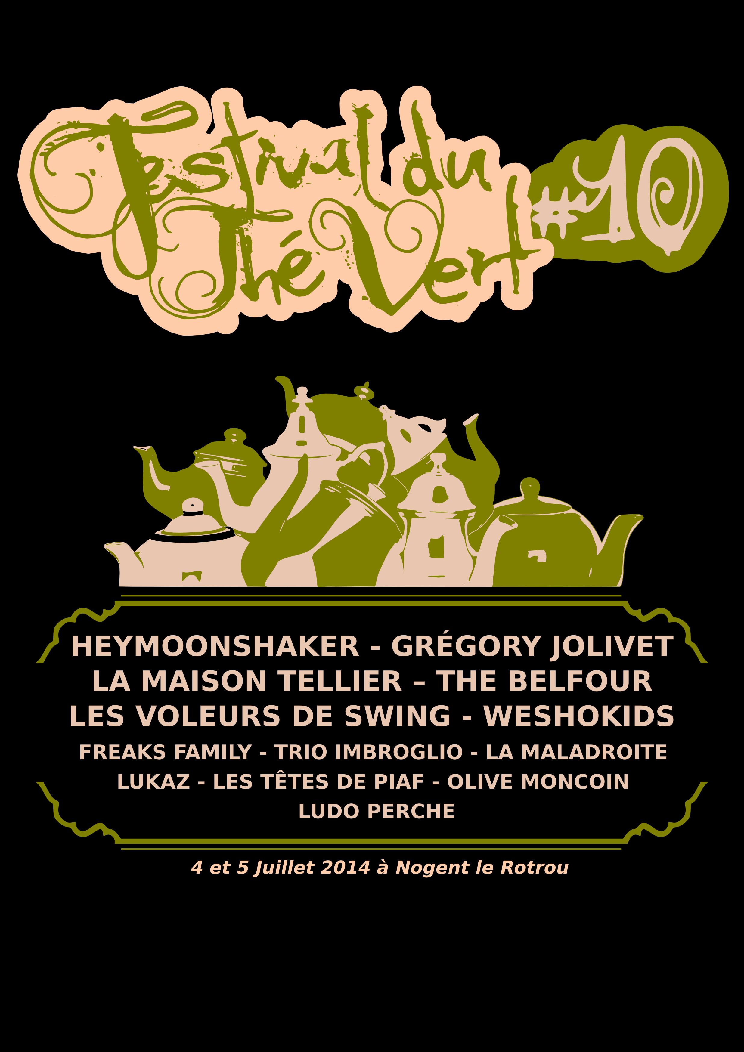 Festival du Thé Vert 2014 - T-Shirt arrière