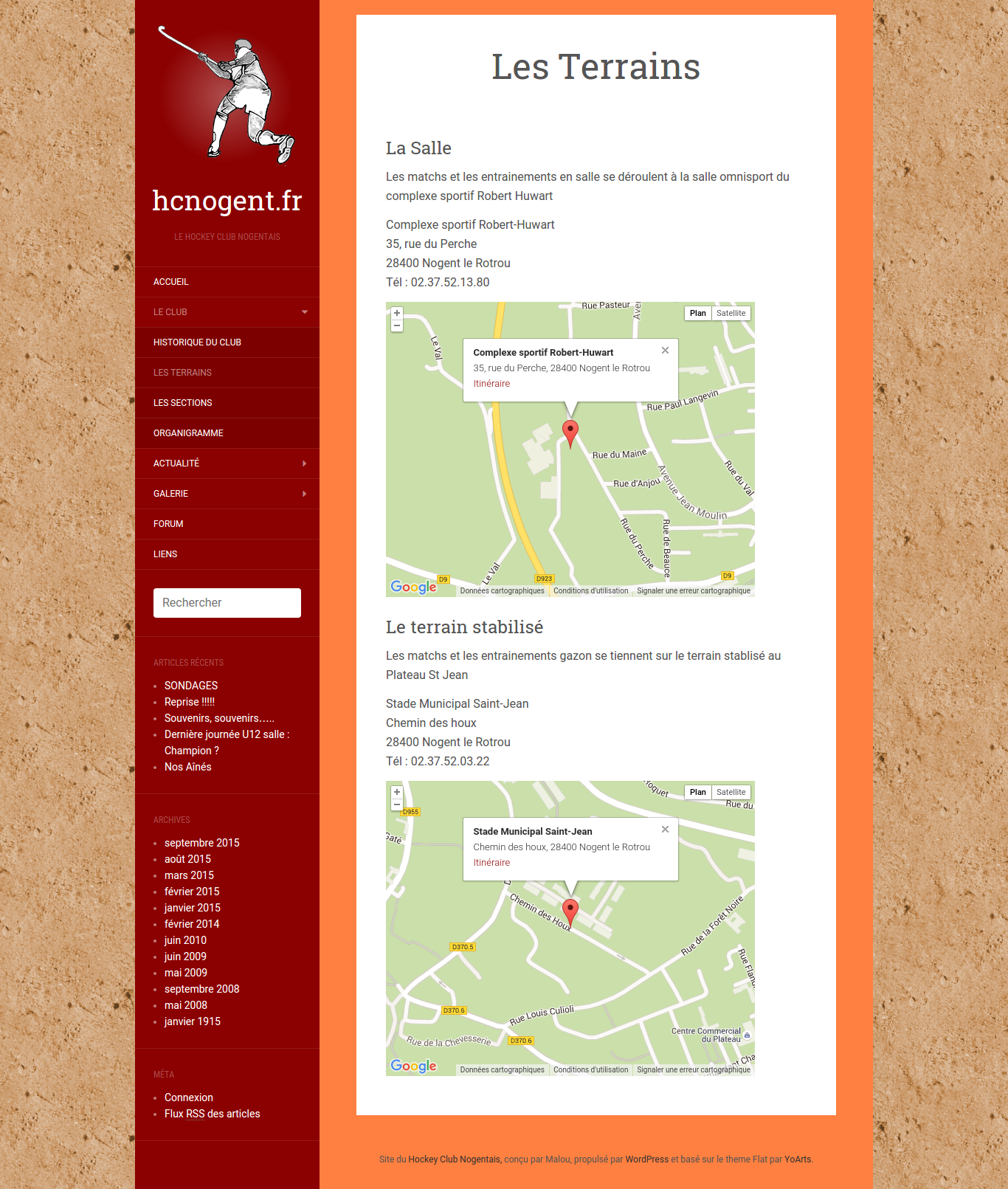 Site du Hockey Club de Nogent le Rotrou - Page Statique