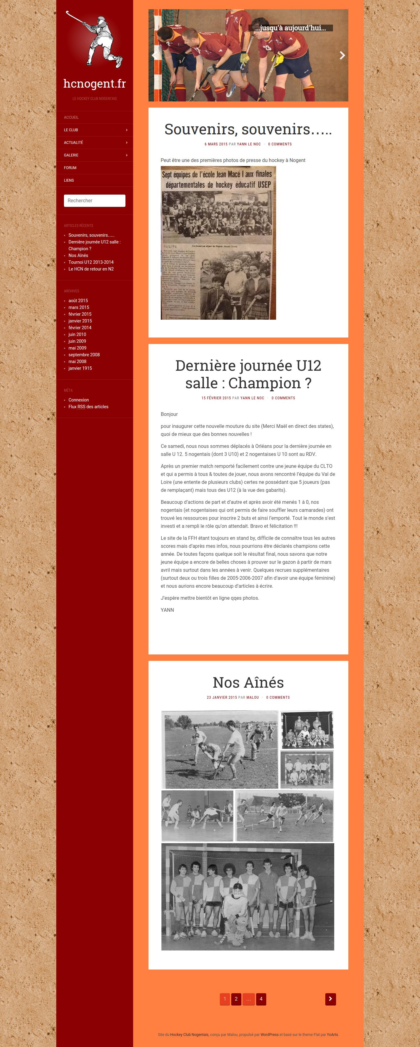 Site du Hockey Club de Nogent le Rotrou - Page d'accueil