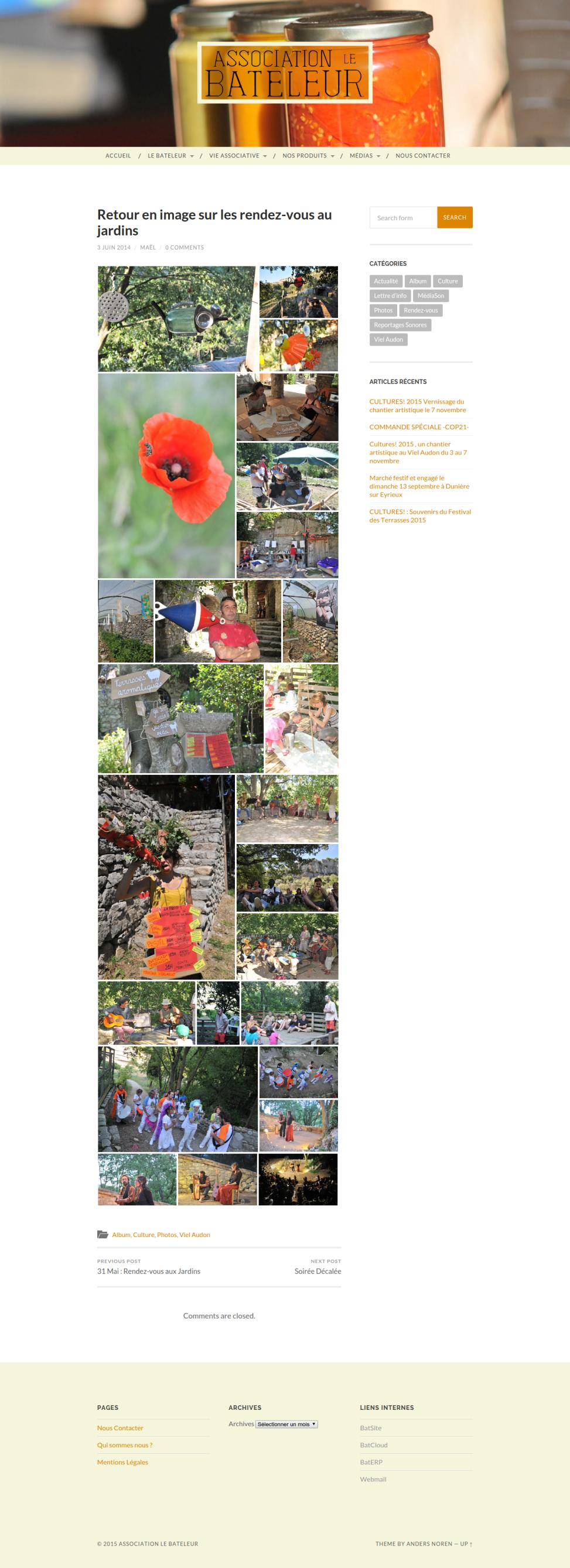 Site internet du Bateleur - Album Photos