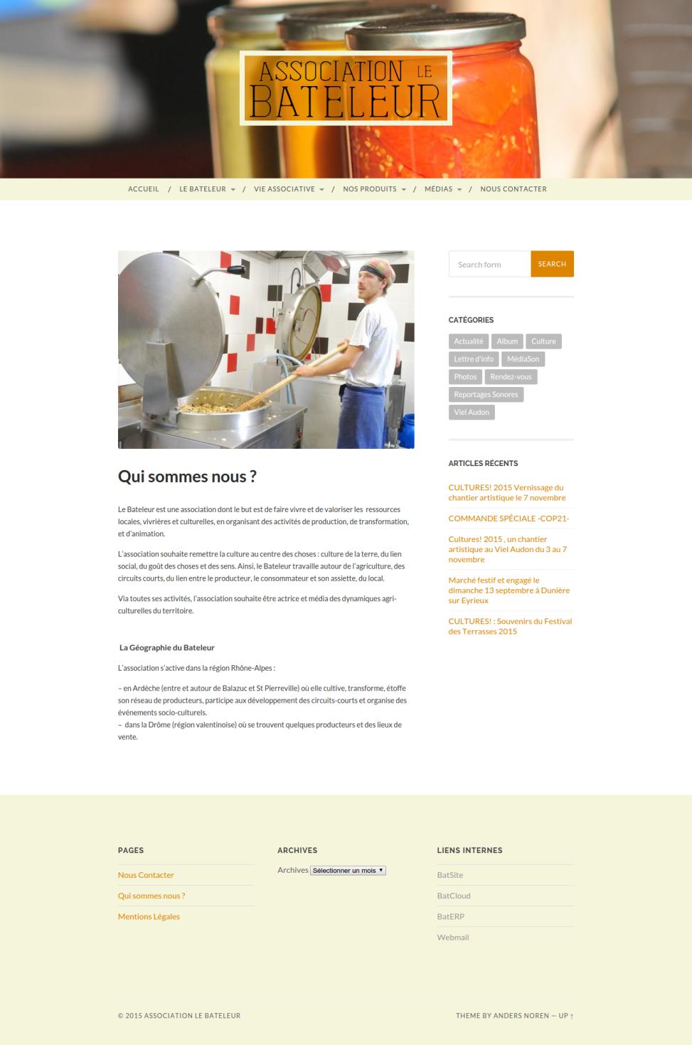 """Site internet du Bateleur - Page """"Qui sommes nous ?"""
