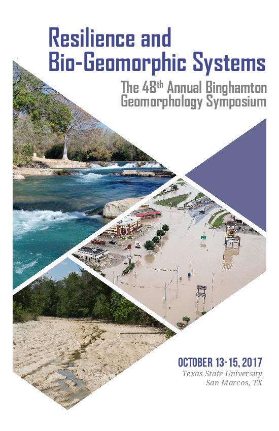 "Programme du ""Binghamton Geomorphology Symposium"" - Couverture"
