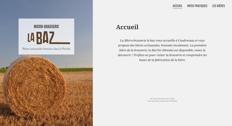 "Site internet de la micro-brasserie ""La Baz"""
